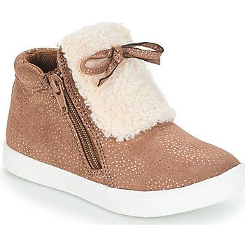 Shoes Girl Mid boots André MOUFLON Beige