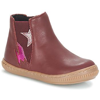 Shoes Girl Mid boots André MAGENTA Bordeaux