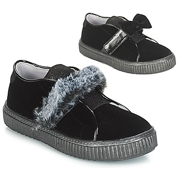 Shoes Girl Slip ons André MAMMOUTH Black