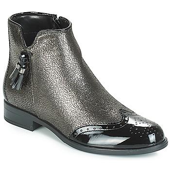 Shoes Women Mid boots André ALINA Bronze / Black