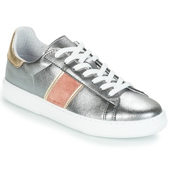 Shoes Women Low top trainers André FRISBEE Silver