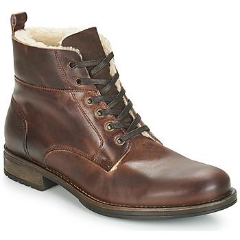 Shoes Men Mid boots André MONTAGNARD Brown