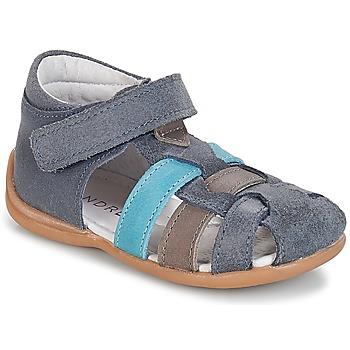 Shoes Boy Sandals André LES PRALINES Blue