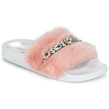 Shoes Women Sliders André DIADEME Nude
