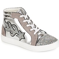 Shoes Women High top trainers André LOTUS Silver