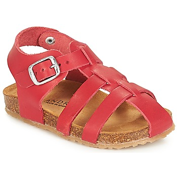 Shoes Boy Sandals André AVIRON Red