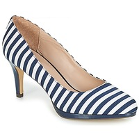 Shoes Women Court shoes André CRYSTAL Striped / Blue