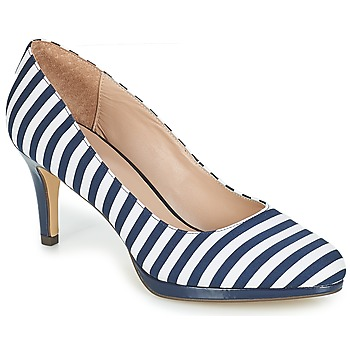 Shoes Women Court shoes André CRYSTAL Striped / Blue