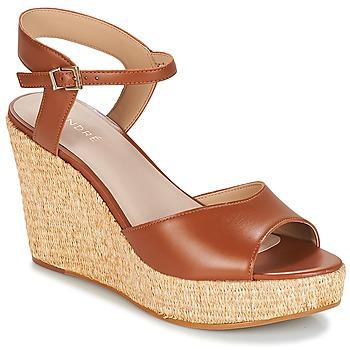 Shoes Women Sandals André BUNGALOW Cognac