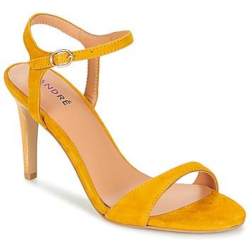 Shoes Women Sandals André SAXO Yellow