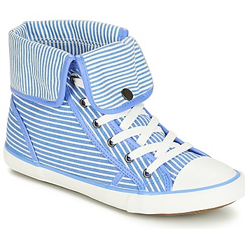 Shoes Women High top trainers André GIROFLE White / Blue