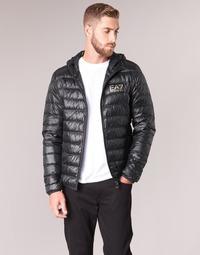 material Men Duffel coats Emporio Armani EA7 TRAIN CORE ID M DOWN LIGHT Black / Gold