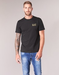 material Men short-sleeved t-shirts Emporio Armani EA7 JAZKY Black / Gold