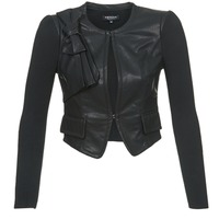 material Women Leather jackets / Imitation le Morgan VUIR Black