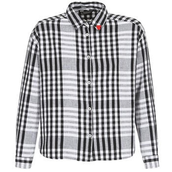 material Women Shirts Scotch & Soda FRINDA Black / White