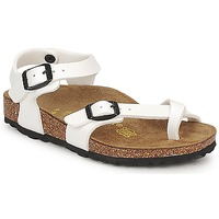 Shoes Girl Sandals Birkenstock TAORMINA White / PATENT