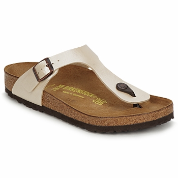 Shoes Women Flip flops Birkenstock GIZEH Cream