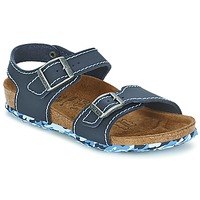 Shoes Girl Sandals Birki's NEW YORK Neoprene / Blue