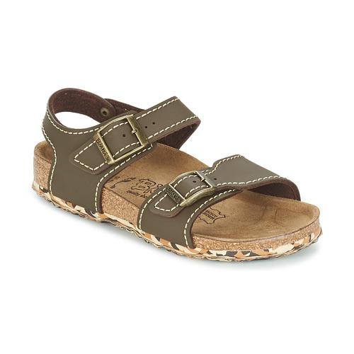 Shoes Girl Sandals Birki's NEW YORK Neoprene / Brown