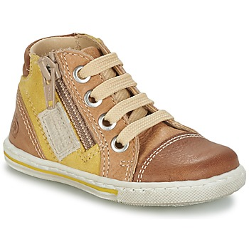 Shoes Children High top trainers Citrouille et Compagnie MIXINE Brown