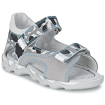 Shoes Boy Sandals Citrouille et Compagnie MISQUINE White / Military