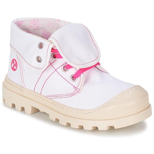 Shoes Girl Mid boots Citrouille et Compagnie BASTINI White