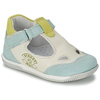 Shoes Boy Sandals Citrouille et Compagnie XOULOU White / Blue / Green