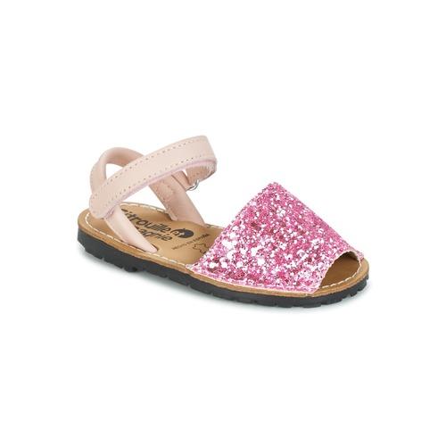 Shoes Girl Sandals Citrouille et Compagnie SQUOUBEL Fuschia