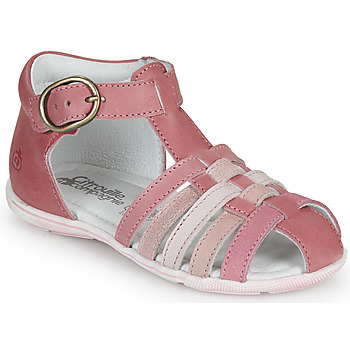 Shoes Girl Sandals Citrouille et Compagnie VISOTU Pink / Multicoloured