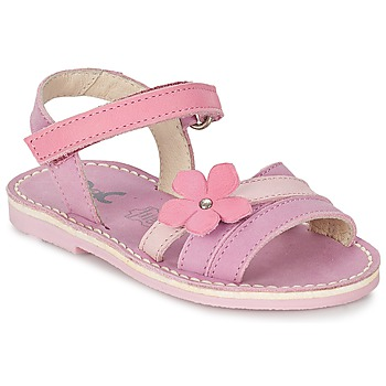 Shoes Girl Sandals Citrouille et Compagnie VIZIEL Violet / Pink