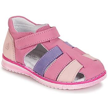 Shoes Girl Sandals Citrouille et Compagnie CHIZETTE Lilac / Pink / Fuschia