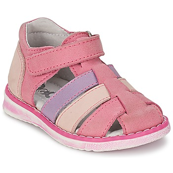 Shoes Girl Sandals Citrouille et Compagnie CHIZETTE Lilac / Pink / Fuschia
