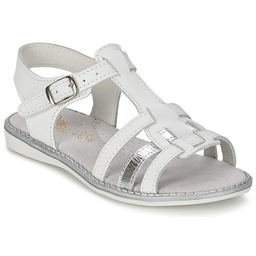 Shoes Girl Sandals Citrouille et Compagnie ROLUI White