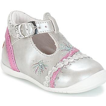 Shoes Girl Ballerinas GBB MARINA Vte / Silver-fuchsia / Dpf / Kezia