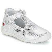 Shoes Girl Ballerinas GBB MARGOT Vte / Silver / Dpf