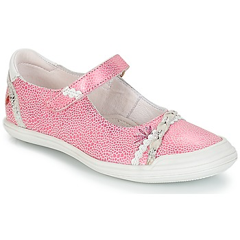 Shoes Girl Ballerinas GBB MARION Vte / Pink-white / Dpf