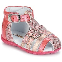 Shoes Girl Sandals GBB PHILADELPHIA Vte / Coral / Dpf