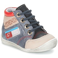Shoes Boy Mid boots GBB PANCRACE Vte / Grey-jeans / Dpf / Raiza