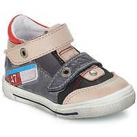 Shoes Boy Low top trainers GBB PEPINO Vte / Grey-jeans / Dpf / Snow