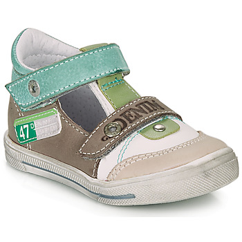 Shoes Boy Sandals GBB PEPINO White / Green / Taupe
