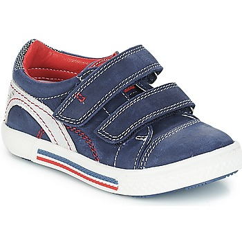 Shoes Boy Low top trainers Catimini PERRUCHE Nus / Marine red / Dpf / Strike