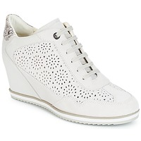 Shoes Women High top trainers Geox D ILLUSION White