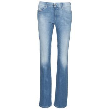 material Women bootcut jeans Diesel BOOTZE Blue