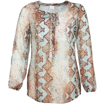 material Women Blouses Alba Moda LOTTA Blue / Brown