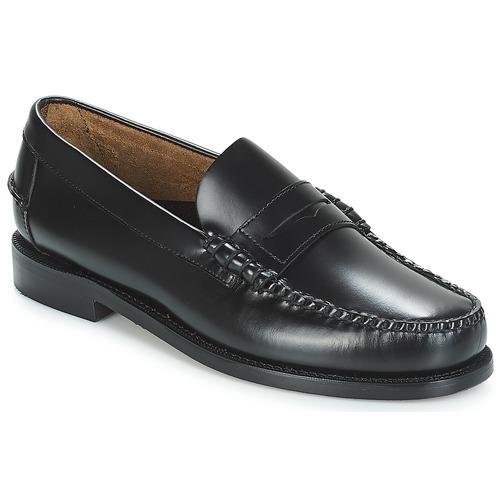 Shoes Men Loafers Sebago CLASSIC PENNY BRUSHED Black