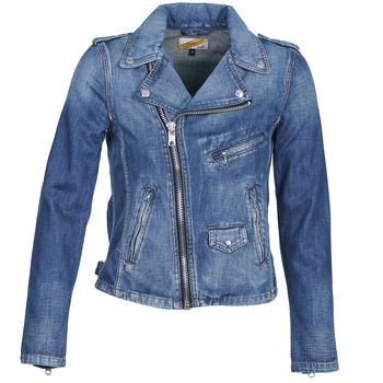material Women Denim jackets Schott JANIS Blue