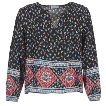 material Women Blouses Casual Attitude WASAS Black / Multicoloured