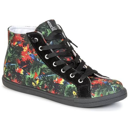 Shoes Women High top trainers Love Moschino JA15132G0KJE0000 Black / Multicolour