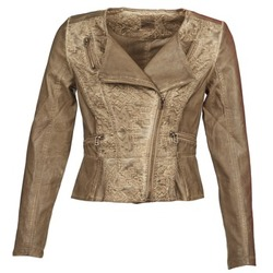 material Women Leather jackets / Imitation le Cream LIL TAUPE