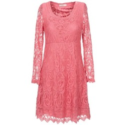 material Women Short Dresses Cream ANNEMON LACE Pink